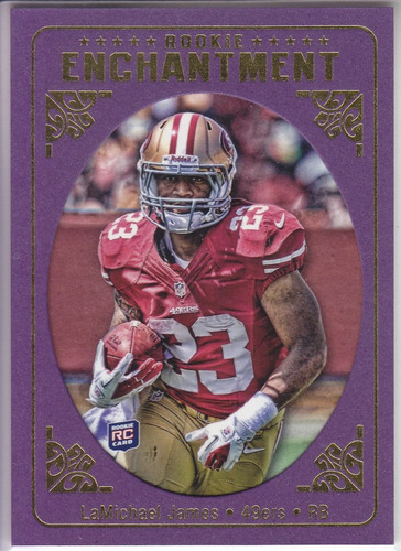 2012 topps magic rookie enchantment lamichael james rb 49ers
