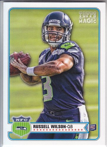 2012 topps magic rookie russell wilson rb seattle seahawks