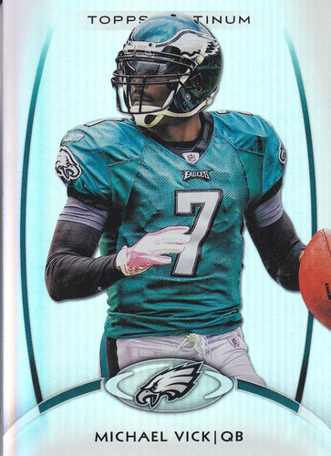 2012 topps platinum michael vick qb eagles