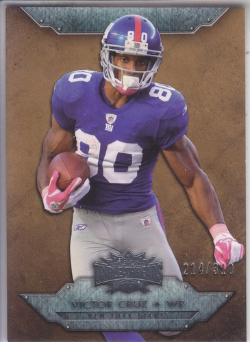 2012 triple threads sepia victor cruz wr giants /310