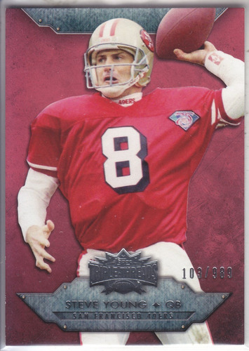 2012 triple threads steve young qb 49ers /989