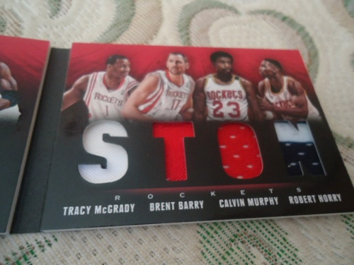 2013-14 booklet 7 jerseys harden lin drexler mcgrady horry