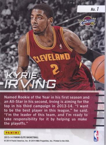 2013-14 panini elite franchise future kyrie irving cavaliers