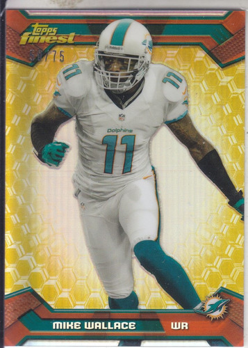 2013 finest gold refractor mike wallace wr dolphins