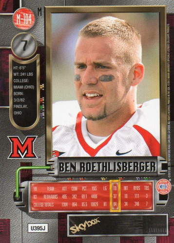 2013 fleer retro metal universe ben roethlisberger steelers