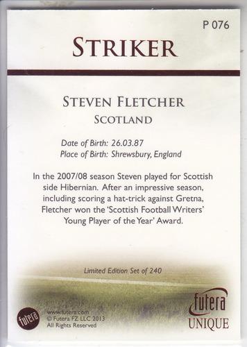 2013 futera unique parallel ruby steven fletcher scotland