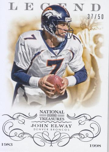 2013 national treasures legend gold john elway broncos /50
