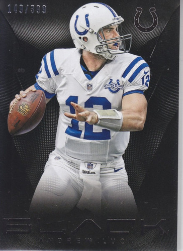 2013 panini black base thick andrew luck qb colts /399