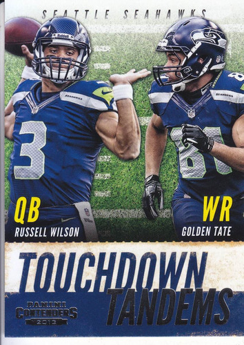 2013 panini contenders td tandems russell wilson golden tate