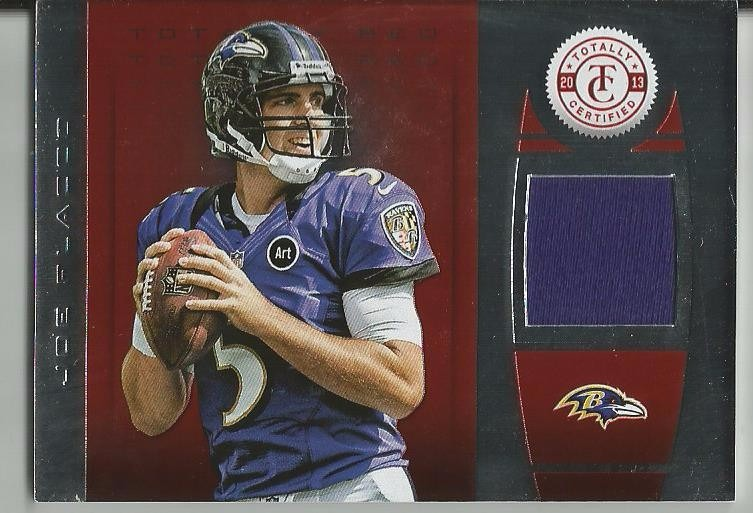 new product e1c0a fb6b9 2013 Panini Totally Certified Red Jersey Joe Flacco Ravens