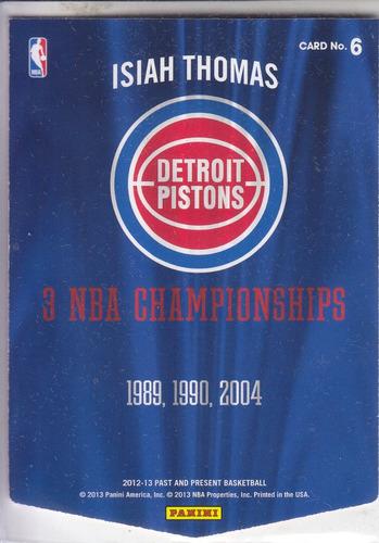 2013 past & present championship banner isiah thomas pistons