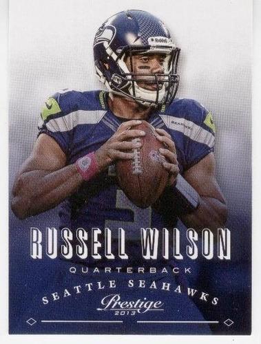 2013 prestige russell wilson seattle seahawks qb