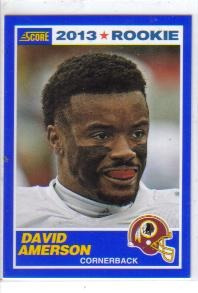 2013 score blue #348 david amerson pieles rojas