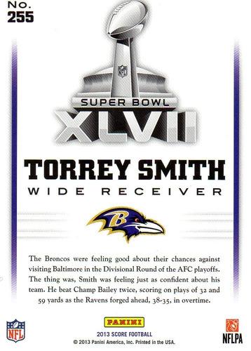 2013 score road to the super bowl torrey smith ravens
