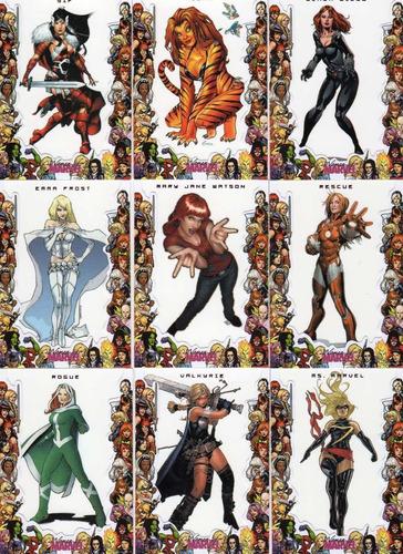 2013 women of marvel framed set especial 9 tarjetas