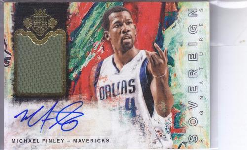 2014-15 court kings autografo jersey michael finley mavs /65