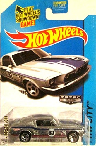 2014 hot wheels hw city 67 custom mustang zamac exclusivo