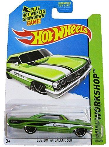 2014 hot wheels hw workshop custom 64 galaxie 500 verde