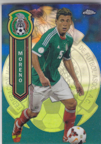 2014 t chrome mls hector moreno blue refractor mexico 99/99