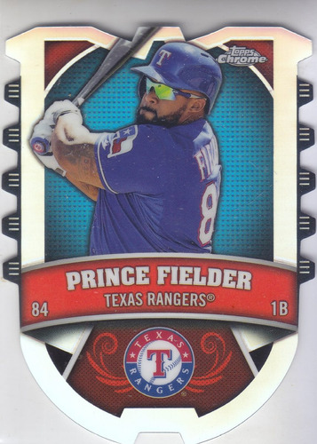2014 topps chrome connect refractor prince fielder rangers