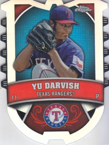 2014 topps chrome connect refractor yu darvish rangers