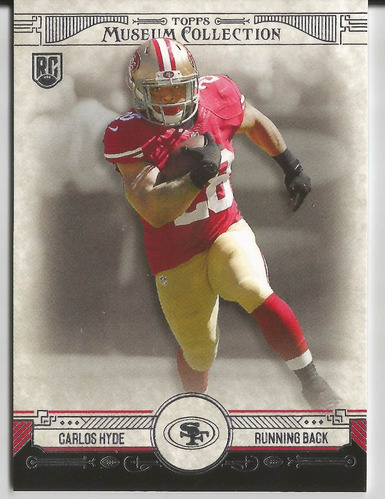 2014 topps museum collection rookie carlos hyde rc rb 49ers