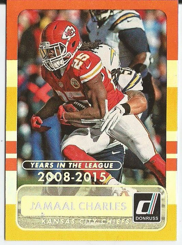 2015 jamaal charles donruss stat line years in the league /7
