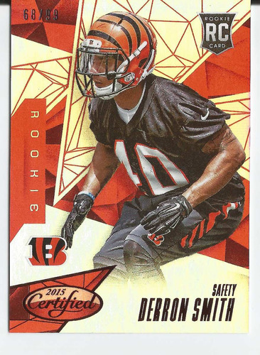 2015 panini certified mirror red /99 derron smith rc bengals