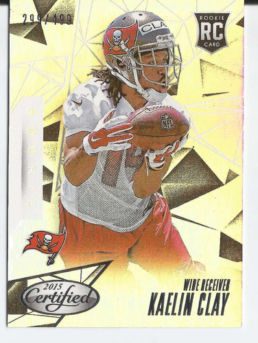 2015 panini certified rc mirror silver /499 kaelin clay bucs