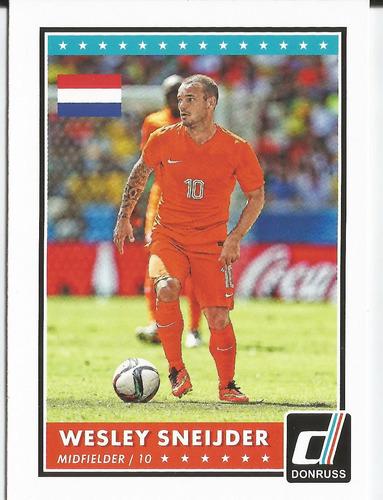 2015 panini donruss soccer variation wesley sneijder