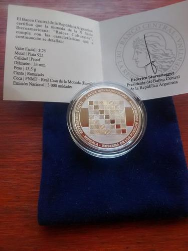 2015 - plata, 10ma serie iberoamericana -  whipala