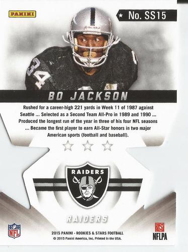 2015 rookies and stars star studded dc bo jackson raiders