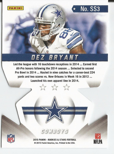 2015 rookies and stars star studded dc dez bryant cowboys