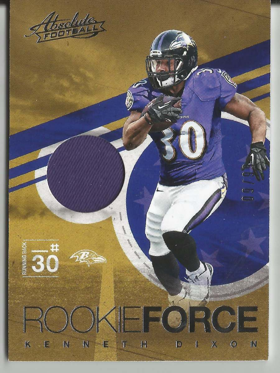 pretty nice 4d38f 748f7 2016 Absolute Rookie Force Jersey Kenneth Dixon Ravens /99 - $ 345.00