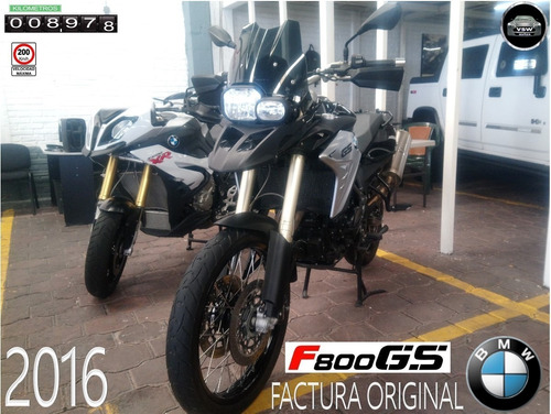 2016 bmw f800 gs con 8,700 km, factura original, unico dueño