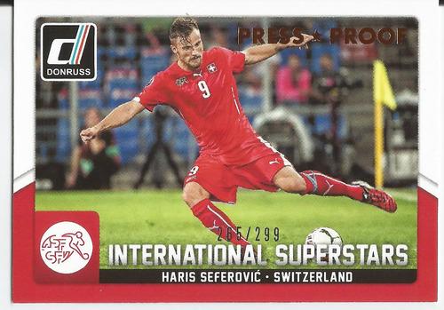 2016 donruss press proof int superstars haris seferovic /299
