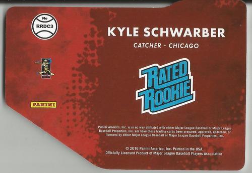 2016 donruss rated rookie dc kyle schwarber /999 cubs