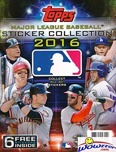 2016 etiqueta engomada del béisbol de topps mlb ¡album enor