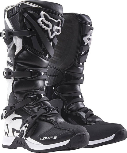 2016 fox racing mens comp 5 botas (8, negro) + envio gratis