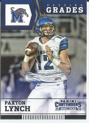 2016 panini contenders passing grades paxton lynch broncos