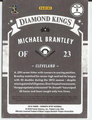 2016 panini donruss optic diamond kings michael brantley cle