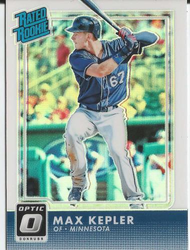 2016 panini donruss optic r rookie #54 max kepler holo ref