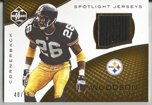 2016 panini limited rod woodson game used jersey /49 steeler