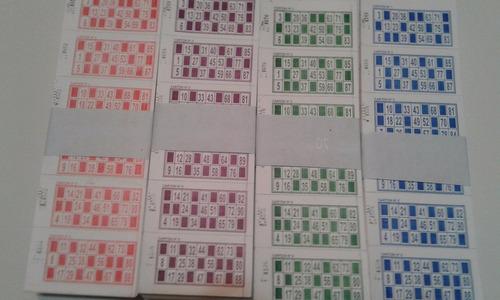 2016 talonarios cartones de bingo descartables loteria