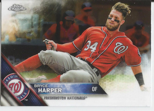 2016 topps chrome #200 bryce harper of nationals