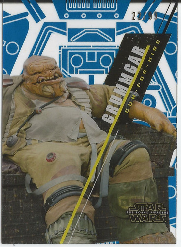 2016 topps star wars high tek grummgar blue parallel /99