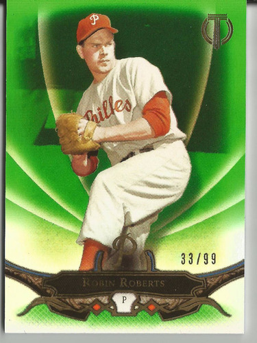 2016 topps tribute #67 robin roberts green parallel /99