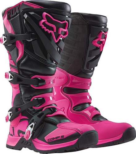 2017 fox racing womens comp 5 botas-negro / r + envio gratis