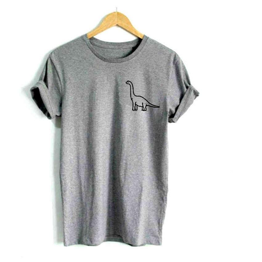 Cargando imprimir dinosaurio casual mujer bolsillo camisa 2018 algodó zoom  7Epw0q7W c0bfd1ed2ca7c