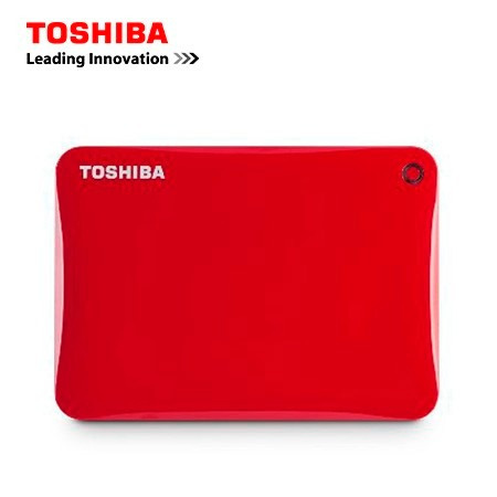 2018 - disco duro ext. toshiba 1tb canvio connect ii red 3.0
